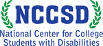 NCCSD logo-bold blue letters NCCSD surrounded by green laurel leaves on both sides; beneath this: