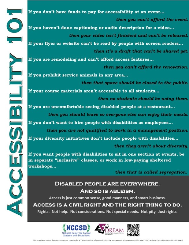 Picture of Accessibility 101 Poster