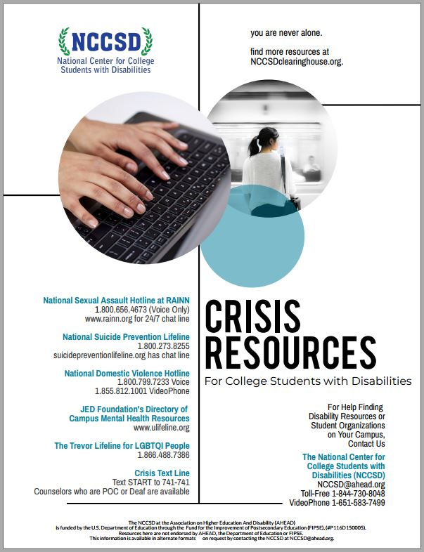 Crisis Resources poster