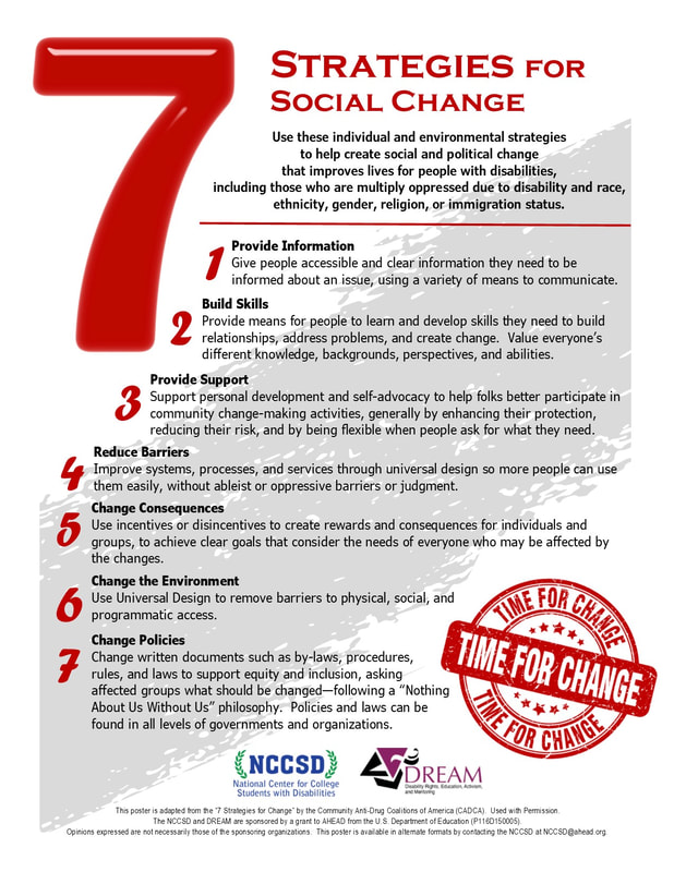 Seven Strategies for Social Change Poster